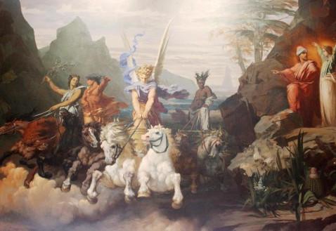 Le cavalier et les chevaux de la vision de Zacharie: figures des apôtres?