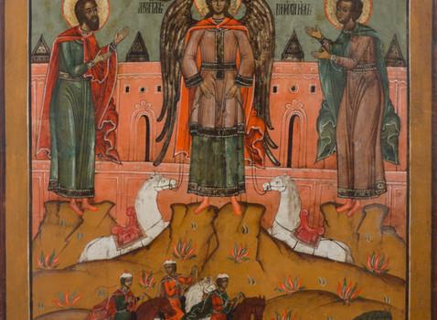 Notre emblème: icône des saints Flore et Laure