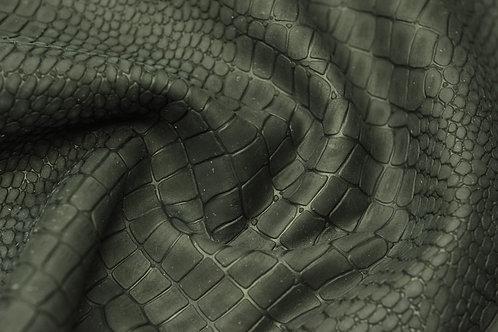 Кожа Нубук Крокодил черный