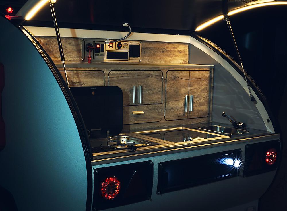 Туристический прицеп кемпера капля «Навигатор» | Дом на колёсах от Лаггар Про