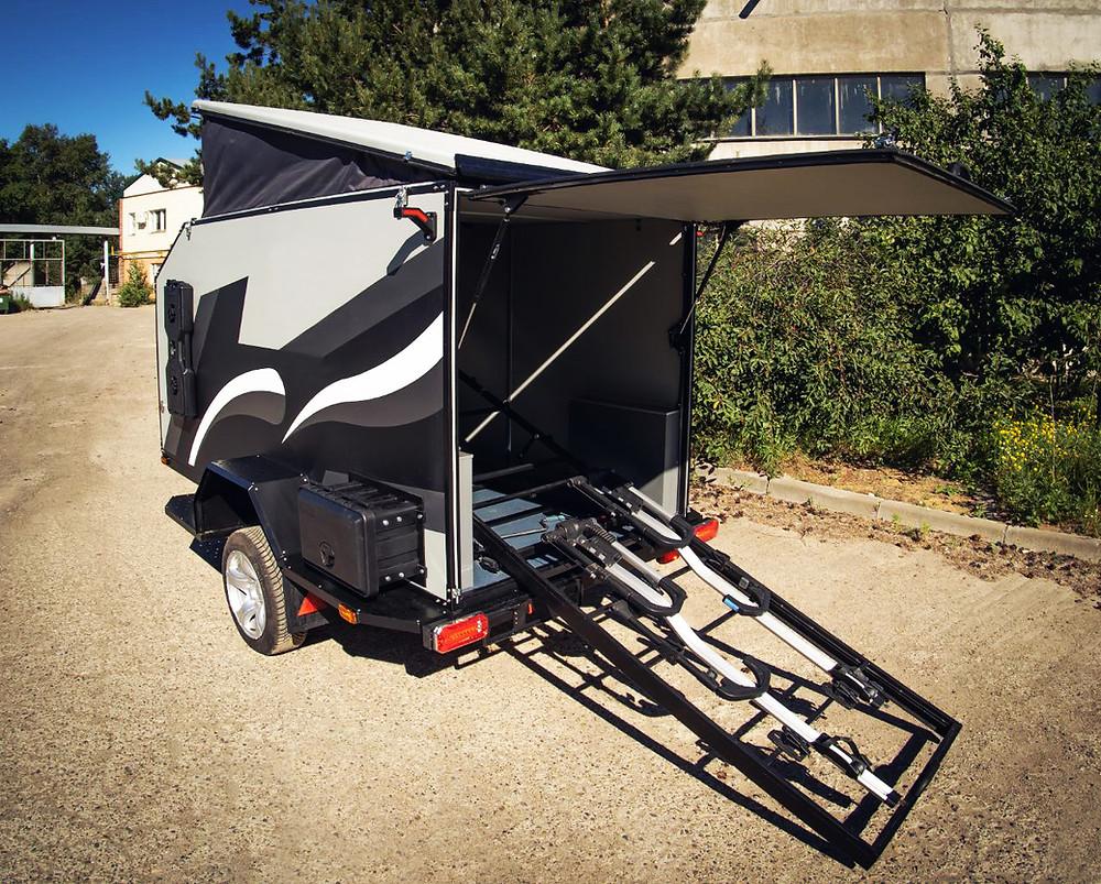 Прицеп для перевозки вело / мото / квадро техники от Лаггар Про