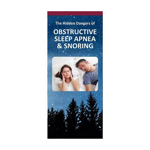 The Hidden Dangers of Sleep Apnea and Snoring (Pkg. of 100) #1400