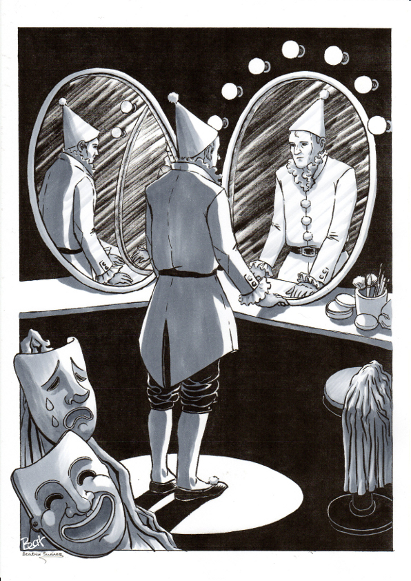 Payaso ante espejos