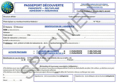 Passeport découverte (par 5)