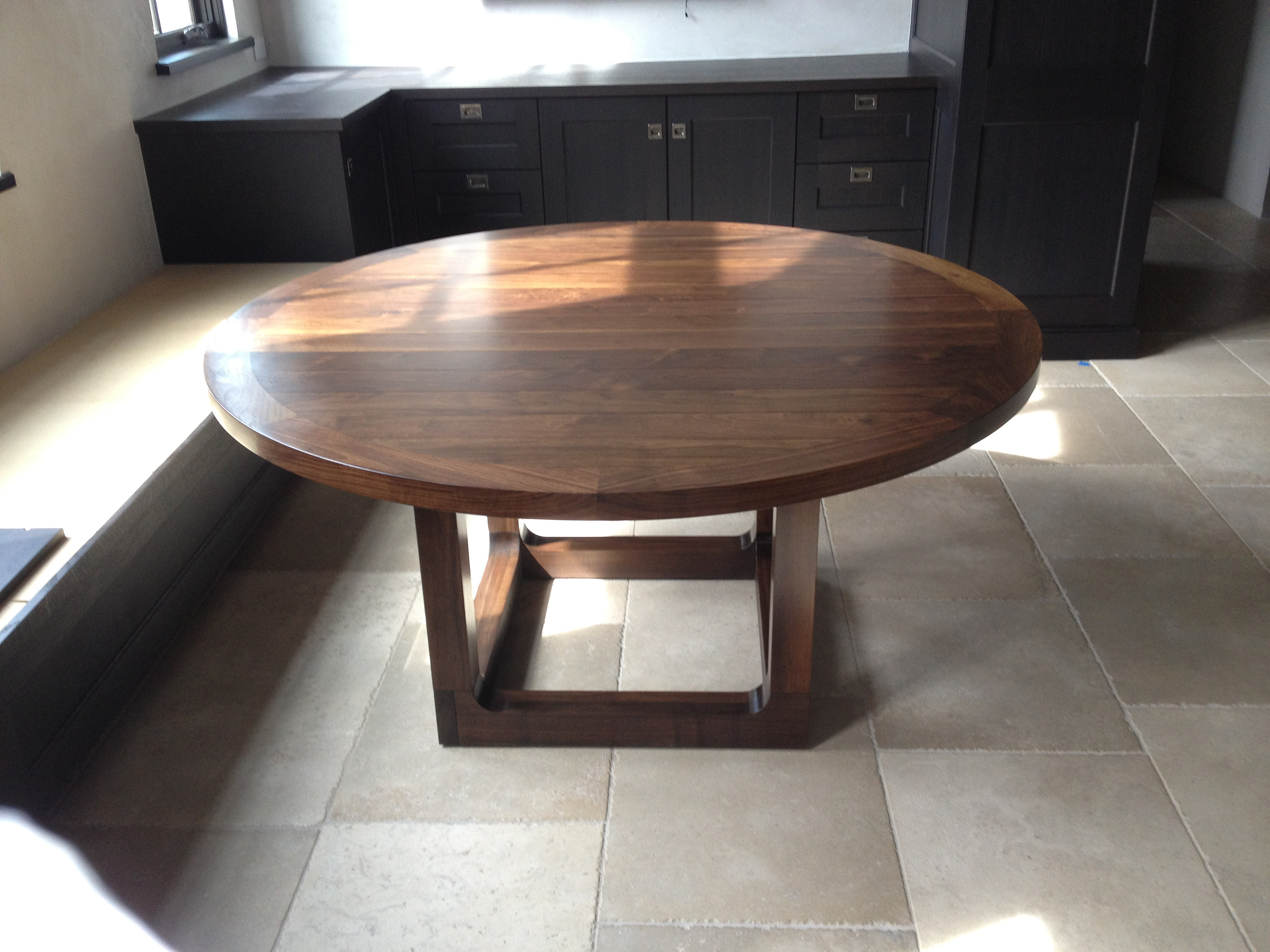 Walnut Round Kitchen Table