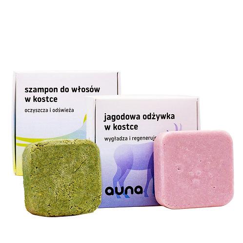 zestaw odżywka + szampon w kostce