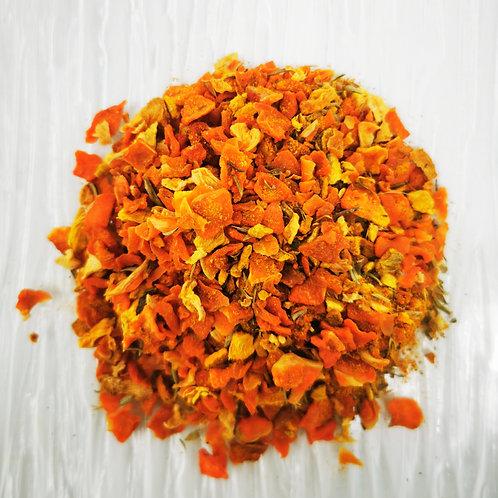 Infusion curcuma carotte