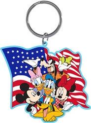 Disney's Mickey, Minnie, Daisy, Goofy, Pluto American Pride Keychain