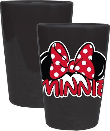 Disney's Minnie Ears Ceramic Collector Glass, Black & Red