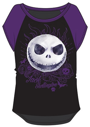 Disney's Nightmare Before Christmas Youth Girls Purple & Black Shirt