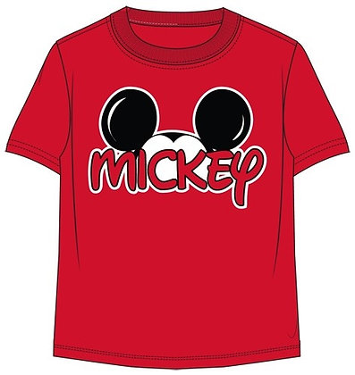 Disney's Mickey Mouse Plus Size Men's Red T Shirt