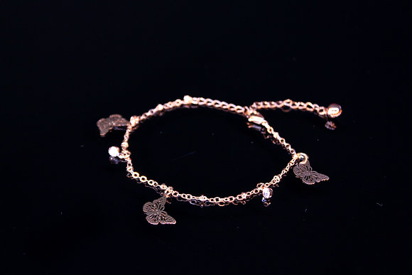 Golden Butterfly Anklet