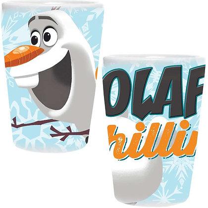 "Disney's ""Frozen"" Olaf ""Chillin'"" Ceramic Collector Glass"