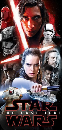 """Disney's """"Star Wars"""" Last Jedi 28"""" x 58"""" Beach Towel"""