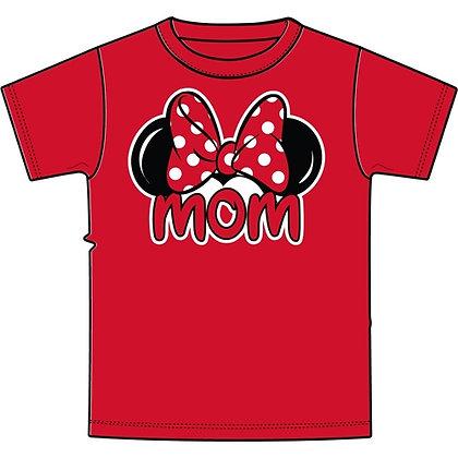 "Disney's Red Minnie Ears ""Mom"" T-Shirt"