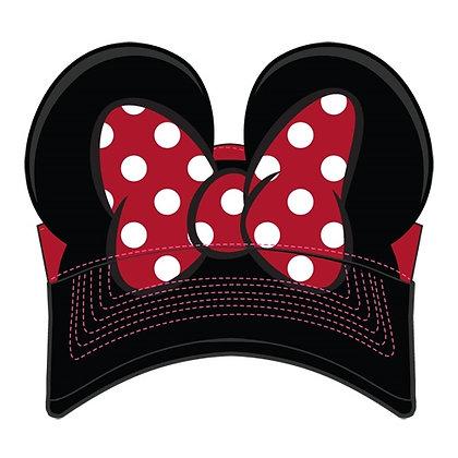 Disney's Kids 'Minnie Ears' Red & Black Visor