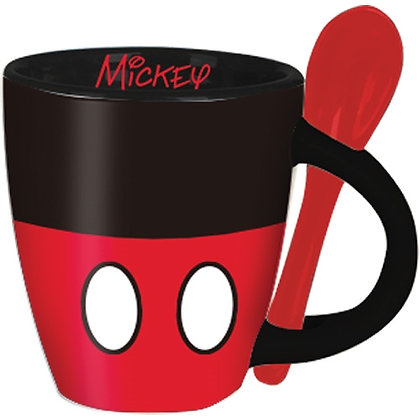 Disney's Mickey Signature Shorts Espresso Cup with Spoon