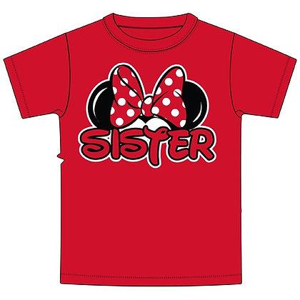 Disney's Red Minnie Ears 'Sister' TShirt