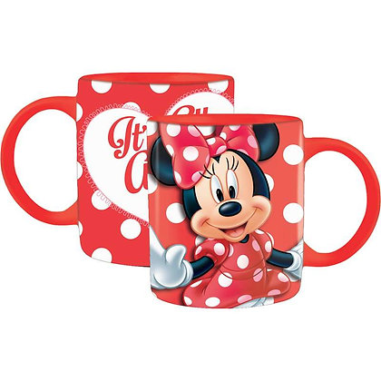 Disney's 11 Oz Big Red & White Heart Minnie Mouse Coffee Mug