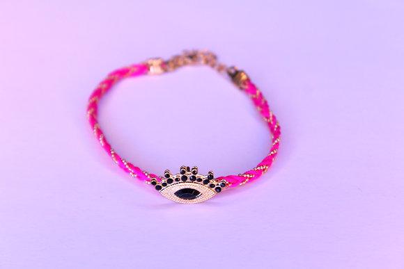 Pink Eye Anklet