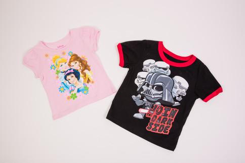 Kids Disney Princess and Star Wars t-shirts