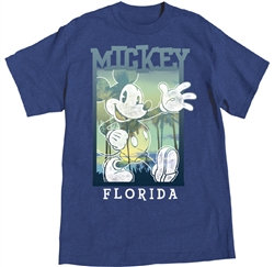 "Disney's ""Mickey Mouse"" Hey Y'all Adult Tee, Blue Heather"