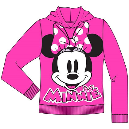 Disney's Minnie Mouse Big Face Pullover Hoodie, Fuchsia