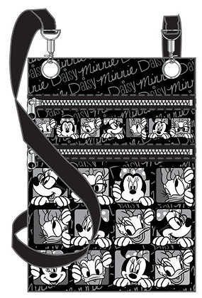 "Disney's 'Minnie Mouse' & 'Daisy Duck' Funny Faces Passport Holder Bag 8"" X 6.5"""