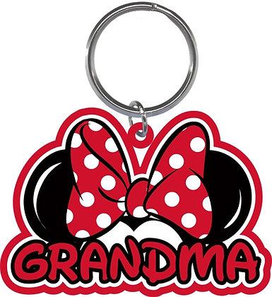 """Disney's Minnie Mouse Ears Shaped """"Grandma"""" Keychain"""