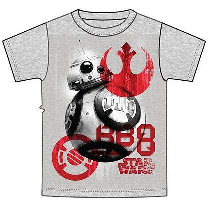 "Disney's ""Star Wars"" BB-8 Symbols Youth Unisex TShirt, Gray"