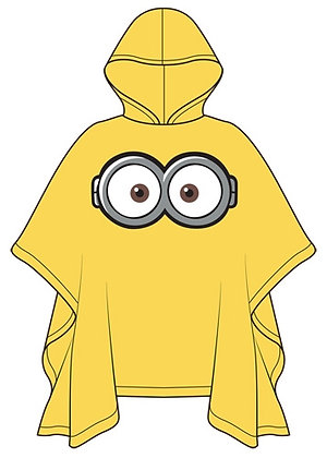 Disney's One Eyed 'Minion' Youth Yellow Poncho Raincoat