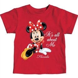 "Disney's ""Minnie Mouse"" It's All About Me Toddler Tee, Red"