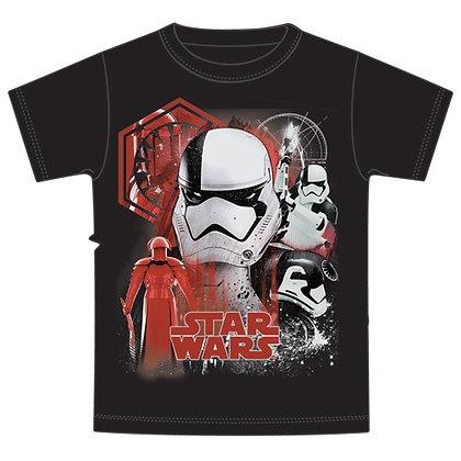 """Disney's """"Star Wars"""" Last Jedi Troops & Guard Adult TShirt, Black"""