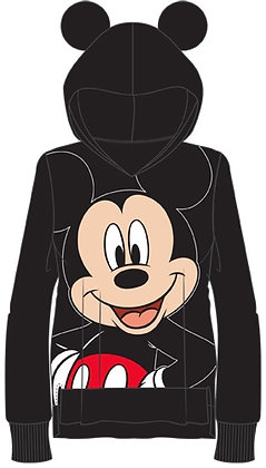 """Disney's """"Mickey Mouse"""" Happy Toddler Pullover Hoodie 2T, 3T, 4T, Black"""
