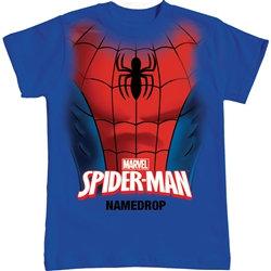 "Marvel's ""Spiderman"" Spidey Chest Boys Tee, Royal Blue"