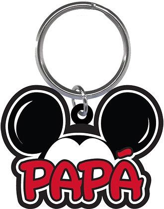 "Disney's Mickey Mouse Ears Shaped ""Papa"" Keychain"