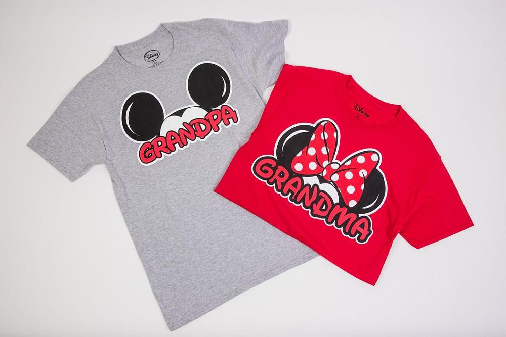 Grandma and Grandpa Disney T-shirts at Treasure Island Gifts in Orlando, Florida