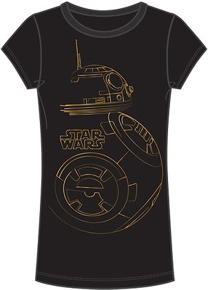 "Disney's ""Star Wars"" Golden Bot Juniors Top, Black"