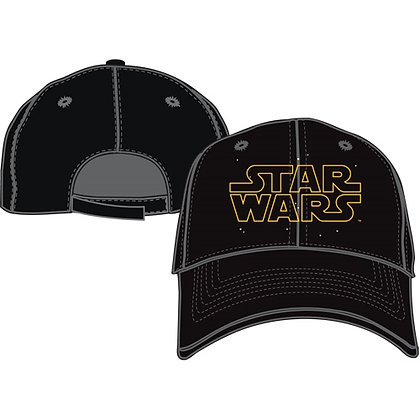 "Disney's ""Star Wars"" Logo Adult Hat, Black"