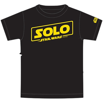 "Disney's ""Star Wars"" Solo Logo Adult Unisex TShirt, Black"