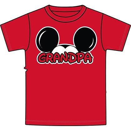 """Disney's Red Mickey Ears """"Grandpa"""" TShirt"""