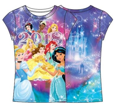 Disney Princesses 2018 Youth Girls Tee