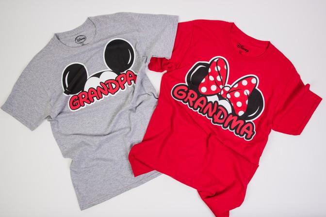 Grandma and grandpa Disney Mickey and Minnie t-shirts