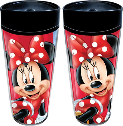 "Disney's ""Minnie Mouse"" White & Red Travel Mug"