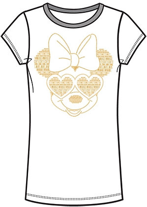 Disney's Adult Women's 'Minnie Mouse' with Sunglasses Fashion TShirt