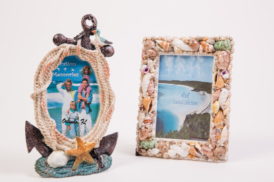 Florida beach nautical frames with seashells