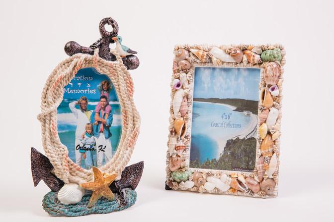 Florida beach nautical frames with seashells