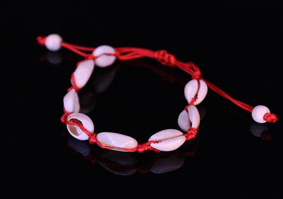 Red Shells Anklet