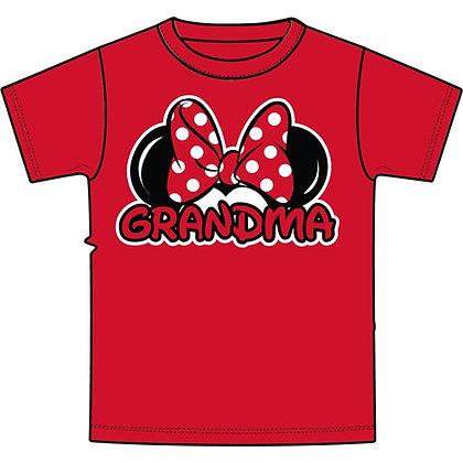 """Disney's Red Minnie Ears """"Grandma"""" TShirt"""
