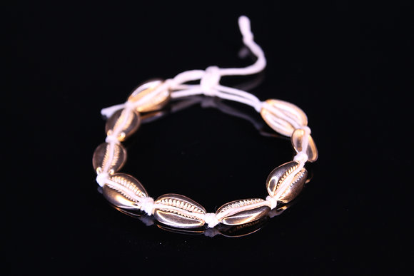 Large Golden Shells Anklet